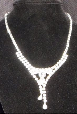 Rhinestone Necklace with Drop