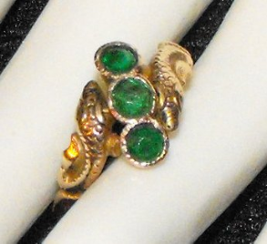 Emerald Rhinestones and Snakes