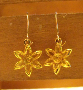 Drop Flower Pierced Earrings