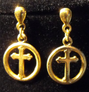 Cross in a Circle Dangles