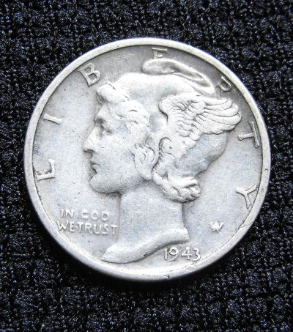 Winged Liberty Head Dime (1943)