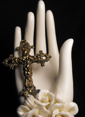Ornate Flowery Cross