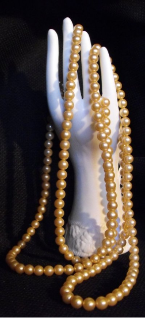 Champagne Faux Pearl Rope