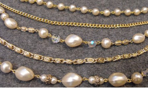 Faux Pearl & Chain Necklace